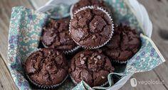 Muffin vegani doppio cioccolato Double Chocolate Muffins, Mini Muffins, I Love Food, Biscotti, Cupcake, Vegan Recipes, Food And Drink, Healthy Eating, Sweets