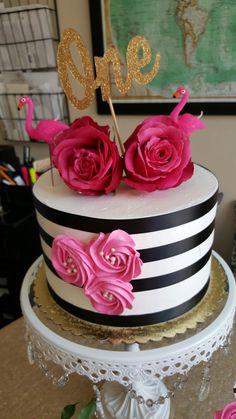 The twins flamingo cake inspired cake!