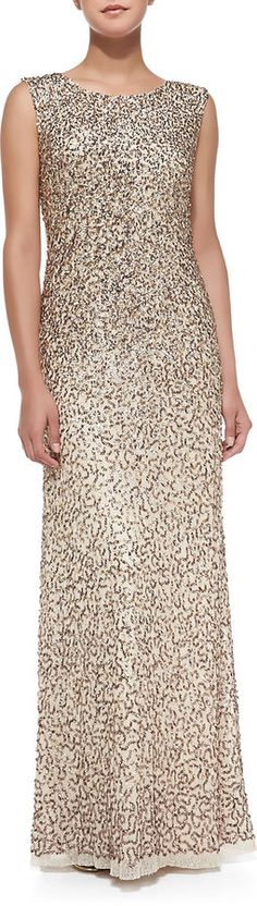 """Aidan Mattox [span class=""""product-displayname""""]Sleeveless Allover Sequined Gown[/span]"""