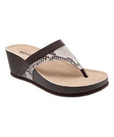 Mink Snake Heights Leather Wedge Sandal