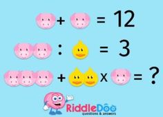 Can you solve this? Best Brain Teasers, Brain Teasers With Answers, Reto Mental, Math Logic Puzzles, Mind Benders, Math Talk, Picture Puzzles, Riddles, Problem Solving