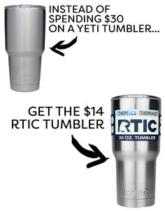 Yeti and RTIC are two brands that have a strong following. According to this test, the RTIC tumbler performed just as well as the more expensive Yeti across the majority of the temperature tests. Save your money and go for the cheaper one.Get the RTIC tumbler for $15 here.