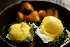Eggs florentine from Friend of a Farmer #restaurant #NYC #breakfast