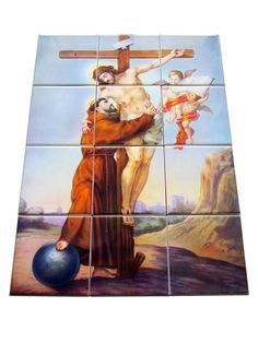 Saint Francis of Assisi - The Burial of Jesus - collectible tile mural - mosaic. Now available in my Etsy Store:  > https://www.etsy.com/listing/231910084 <  The mosaic is composed by 12 ceramic tiles. Ready to hang. Suitable indoor or outdoor. 100% handmade in Italy by @TerryTiles2014. Free shipping to selected countries.  #StFrancis #faith #pray #prayforus #catholic #Jesus #SaintFrancis #FrancisofAssisi #Assisi #catholics #catholicism #religious #catholicsaints #saints #saint #etsyfinds