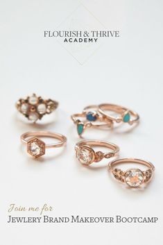 Find out what's missing in your branding and how to skip past the mistakes  that trip up most independent jewelry designers and makers. Join me in Flourish & Thrive Academy's FREE 10 day Jewelry Brand Makeover Bootcamp (and enter to win a $100 gift certificate to the jewelry supply company you choose).