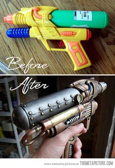 Ridiculously cool steampunk water gun