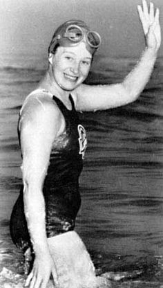 16-year-old Marilyn Bell, the first person to swim across Lake Ontario on Sept. 9, 1954.