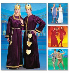 Misses', Men's and Teen Boys' Tunic Costumes ook Griekse jurk