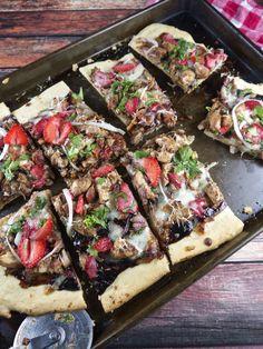 strawberry & balsamic chicken pizza