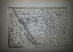 Antique French Map of the Rocky Mountains United by reveriefrance