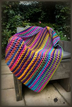 Ravelry: Marion1978's Irish Sea Blanket (Crochet Pattern by Susan Carlson of Felted Button)