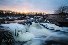 whitemouth falls, Manitoba in spring during thaw. Before Sunset, Maternity Portraits, My Favorite Image, Long Exposure, Newborn Photographer, Waterfall, March, Photoshoot, Sky