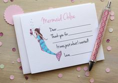 Mermaid birthday notes