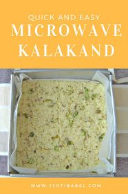 Kalakand is an Indian soft milk fudge sweet dish. In this post, I am sharing an easy and quick microwave version of this much loved Indian dessert - Kalakand. Microwave Recipe Indian, Microwave Recipes, Cooking Recipes, Cooking Ideas, Healthy Indian Recipes, Indian Dessert Recipes, Indian Sweets, Holi Recipes, Sweets Recipes