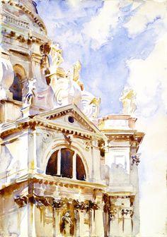 The Salute, Venice  John Singer Sargent