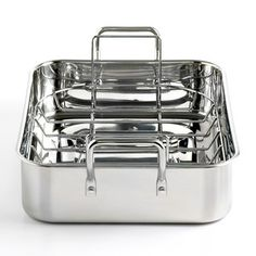 One thing we don't own is a roasting pan! Martha Stewart Collection Roaster, 15 Stainless Steel with Roasting Rack - Martha Stewart Collection - Kitchen - Macys Martha Stewart Home, Professional Kitchen, Roasting Pan, Kitchen Gadgets, Kitchen Stuff, Kitchen Products, Cooking Gadgets, Kitchen Items, Kitchen Tools