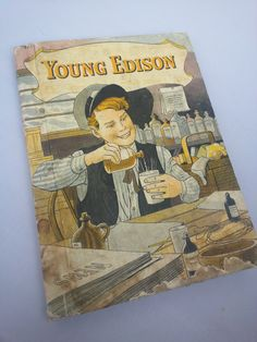 Vintage 1940 Young Edison book by W. E. Wise. Book on by TeaHag