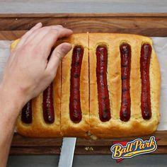 Cornbread bun chili dogs  https://www.facebook.com/BuzzFeedFood/videos/1325052064174683/