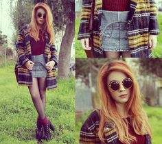 """""""Faraway"""" by Maria R., 19 yr old from Naples, Italy. Choies Coat, Choies Sunglasses, Martofchina Shoes"""