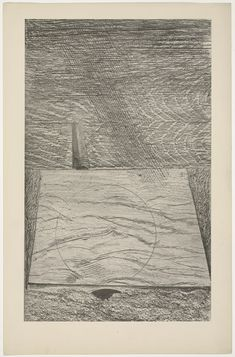 Max Ernst. La mer et la pluie (The Sea and Rain) from Histoire Naturelle. 1926. (Reproduced frottages executed c. 1925).