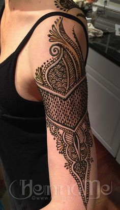paisley henna arm band