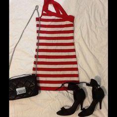 Striped Bodycon Dress!