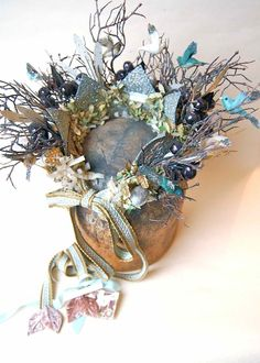 "Amazing crown straight out of ""Midsummer Night's Dream."" By Ashley Carter."