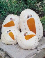 Snowman primitive heads
