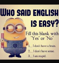 """These """"Top 20 LOL SO True Memes Minions Quotes"""" are very funny and full hilarious.If you want to laugh then read these """"Top 20 LOL SO True Memes Minions Quotes"""" . Funny Math Jokes, Funny Minion Memes, Crazy Funny Memes, Minions Quotes, Really Funny Memes, Memes Humor, Jokes Quotes, Funny Relatable Memes, Haha Funny"""