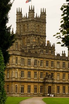 "Highclere-Castle.  Home of George Herbert, 5th Earl of Carnarvon who was the financial backer for the Tutankamun expedition in Egypt. The castle is also the setting for the television drama ""Downton Abbey""  and the home of the present Lord and Lady Carnarvon.  Hampshire, ENGLAND.  (by Sic Itur Ad Astra, via Flickr)"