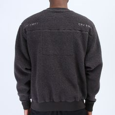 46e5b8225e Cav Empt C.E. Fleece Crew Neck Charcoal Fashion Brands, Dapper, Charcoal,  Men Sweater