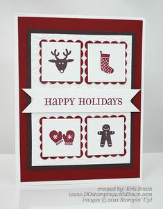 Stampin Up Christmas Cards 2012 | ... Bits Holiday Card - DOstamping with Dawn, Stampin' Up! Demonstrator