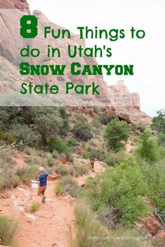 Canyon State Park is a beautiful gem in Southern Utah. Check out 8 fun things to add to your list while you are there!Snow Canyon State Park is a beautiful gem in Southern Utah. Check out 8 fun things to add to your list while you are there! Utah Vacation, Vacation Spots, Snow Canyon State Park, Canyon Utah, Utah Snow, St George Utah, Saint George, Utah Camping, Utah Adventures