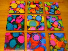 DIY coasters. This is so stinkin cool! Gonna do this with lil k before school starts! :D