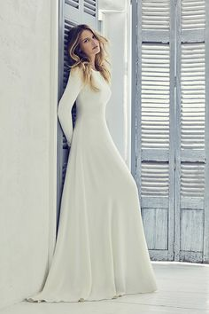 couture wedding dresses and bridal gowns by award winning UK bridal designer Suzanne Neville in her 2019 Collection - Adair Western Wedding Dresses, Princess Wedding Dresses, Modest Wedding Dresses, Designer Wedding Dresses, Bridal Dresses, Temple Wedding Dresses, Wedding Gowns, Temple Dress, Prom Dress