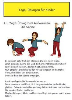 Image and text material for basic yoga exercises. Included in the material . - Image and text material for basic yoga exercises. The material also includes a fanfold for the child -
