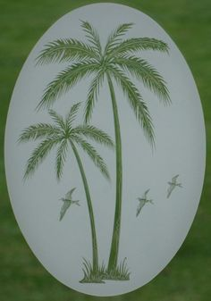8x12 Palm Trees Window Decal Glass Cling Tropical Decor | eBay