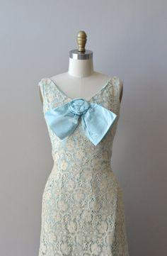 vintage 1960s dress / 60s lace maxi dress / Dilettante lace dress ~ CUTE