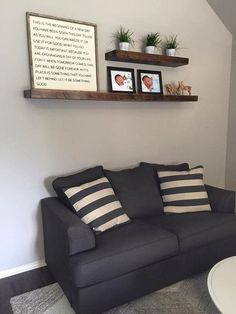 Living Room Wall Shelf Stunning Shelves Above Couch  Bing Images  For The Home  Pinterest 2017