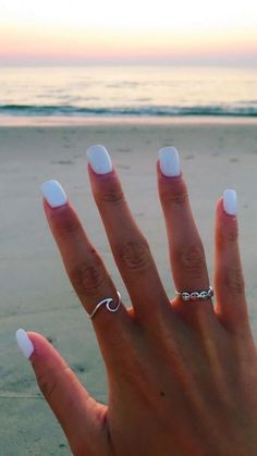 """Pale blue nail, know I& a fan of nail& art! I said """"not blue"""", but these two examples of nail polish pale blue make me very want! Manicures, Gel Nails, Nail Polish, Nail Nail, White Nail Art, White Nails, Black Nail, Cute Acrylic Nails, Silver Acrylic Nails"""