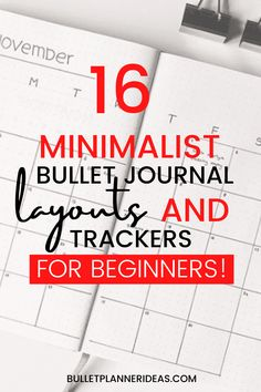 16 Minimalist Bullet Journal Layouts that are a must see! A short collection of monthly and weekly layouts including a few great habit tracker spreads that anyone can use and are beginner friendly on purpose! I hope you enjoy!! Bullet Journal Weekly Spread Layout, Minimalist Bullet Journal Layout, December Bullet Journal, Habit Trackers, Calendar Layout, Miracle Morning, First Page, Bullet Journal Inspiration, Spreads