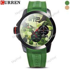 CURREN Brand Design New Military Sub-dials Rubber Band Quartz Watch Wrist Watch for Men WWT-376380