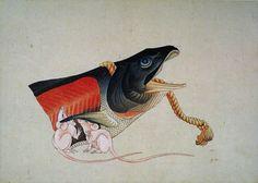 "drakontomalloi: "" Katsushika Hokusai - Mice and Head of a Salmon., between 1833 and 1839 "" Japanese Art Styles, Japanese Artwork, Japanese Painting, Japanese Prints, Chinese Painting, Japan Illustration, Monte Fuji, Asian Sculptures, Art Occidental"