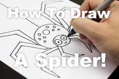 How to draw an awesome spider!
