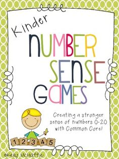 Kinder Number Sense Games!  Great for RTI!