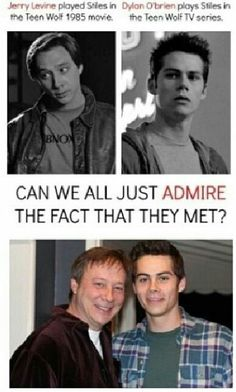 Stiles and Stiles ~~~ this post actually open my eyes that Teen Wolf was a movie first before a tv series 😅 Teen Wolf 1985, Teen Wolf Dylan, Teen Wolf Stiles, Teen Wolf Cast, Stydia, Sterek, Dylan O'brien, Teen Wolf Memes, Wolf Stuff