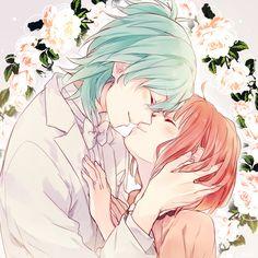 Tags: Anime, Shina-love, Uta no☆prince-sama♪, Nanami Haruka, Mikaze Ai, Ring, Flower Background