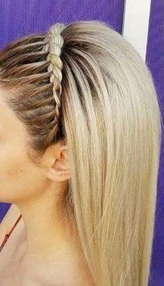 Dance Hairstyles, Easy Hairstyles For Long Hair, Braids For Long Hair, Braided Hairstyles, Wedding Hairstyles, Cabello Hair, Front Hair Styles, Looks Style, Hair Dos