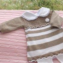 Saída de Maternidade Listrado Escamas - Vestido
