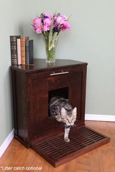 Corner Litterbox Cabinet - who would have ever thought I'd be researching these, FML.